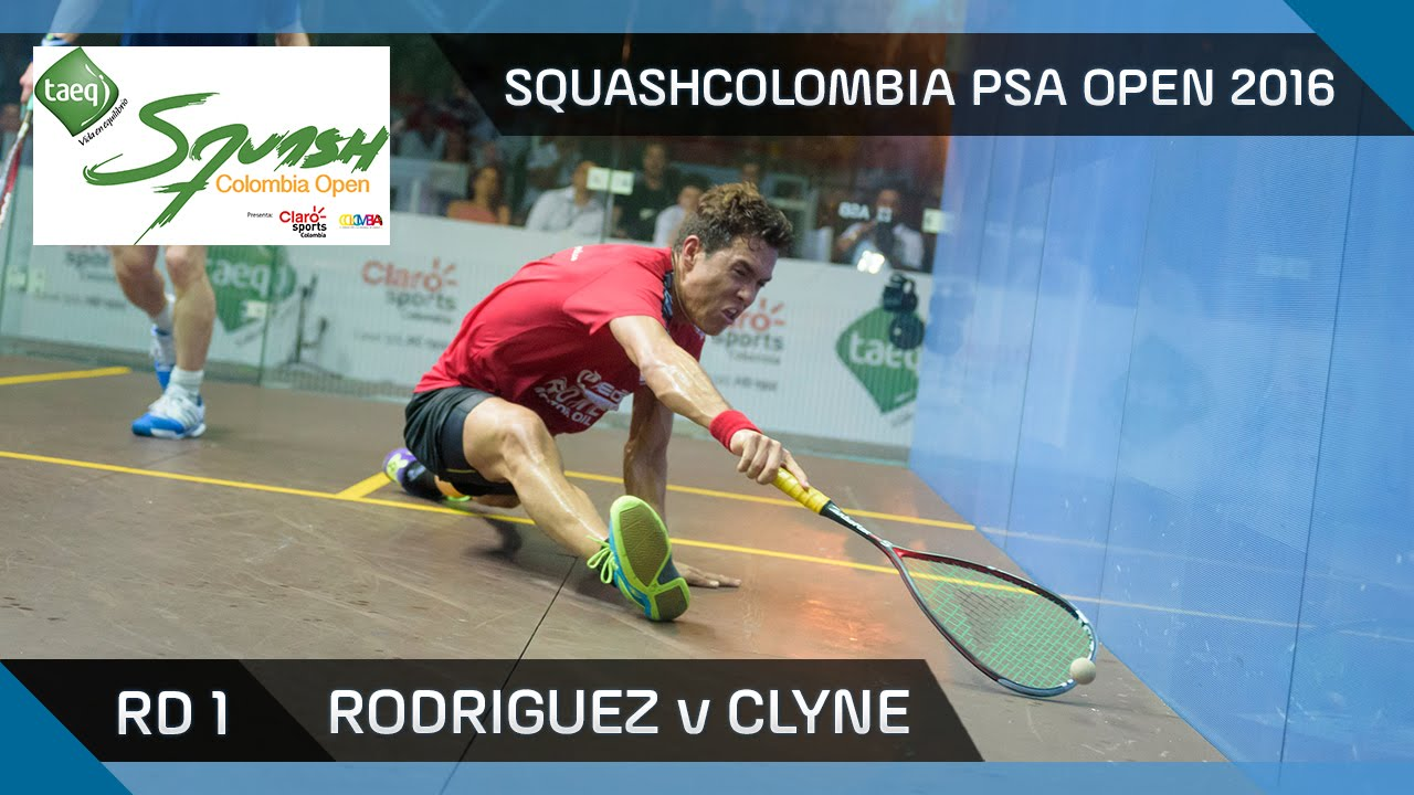 Squash: Rodriguez v Clyne – SquashColombia PSA Open 2016 – Rd 1 Highlights