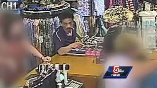 Have you seen this man? Police said he is accused of using a cellphone to take upskirt photos or videos of women and one child inside a clothing store.