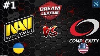 57 мин ЖЕСТКОЙ ЗАРУБЫ!   Na`Vi vs coL #1 (BO3)   DreamLeague Season 10