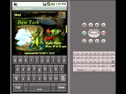 Video of Dragon Weather Widget