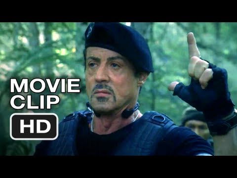 The Expendables 2 Movie CLIP - Sniper - Sylvester Stallone Movie HD Video
