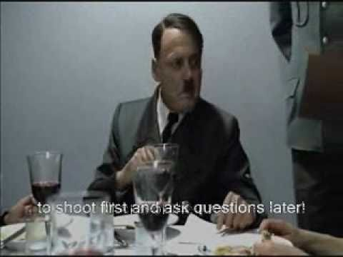 Hitler reads the US Visa Application Form