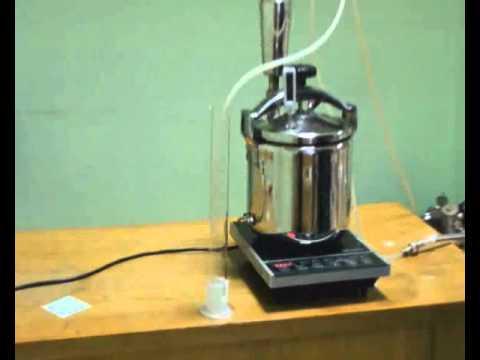 Получение дистиллята из спирта-сырца на пленочной колонне ХД/4-2500 ПК