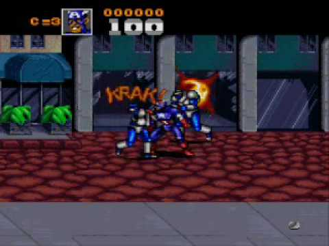 Captain America and the Avengers Super Nintendo