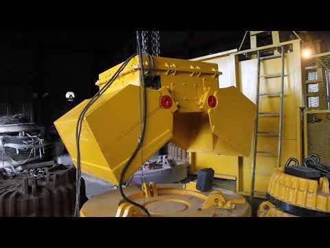 Работа моторного грейфера (винт-гайка)