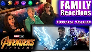 Avengers 4: ENDGAME | Official trailer | FAMILY Reactions