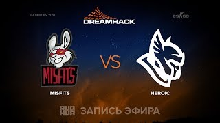 Misfits vs Heroic - DH Open Valencia - de_overpass [mintgod, sleepsomewhile]