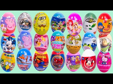 minnie - Surprise Eggs Peppa Pig Pocoyo Mickey Mouse Minnie Mouse MLP Play Doh Eggs Huevos Sorpresa ✿◕ ‿ ◕✿ Play Doh Peppa Pig George Jumping Muddy Puddles Play-Doh Peppa Plays in Mud ...