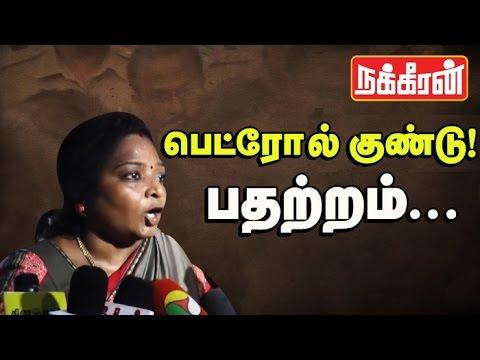 Tamilisai--Hindus-not-safe-in-Tamilnadu-BJP-members-allege-petrol-bomb-attack