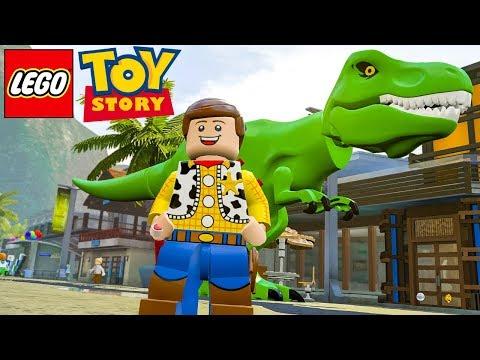 LEGO TOY STORY WOODY E REX no LEGO Jurassic World EXTRAS MUNDO ABERTO #54