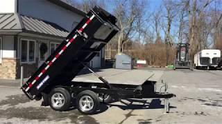 4. Sure Trac 6x10' Standard Duty Deckover Hydraulic Dump Trailer ST7210DOD-B-070