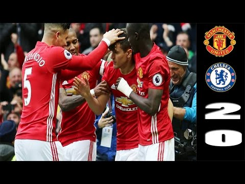 Manchester United vs Chelsea 2-0 All Goals & Highlights HD   16/4/17 Premier league