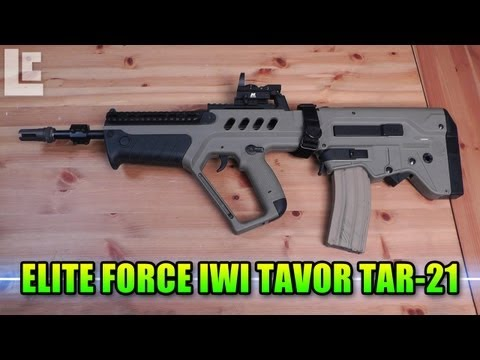 New Elite Force Guns - Hey guys today we're going to take a look at a very cool bullpup design assault rifle from Umarex. The all new IWI Tavor TAR-21 in tan! Elite Force Tavor: ht...