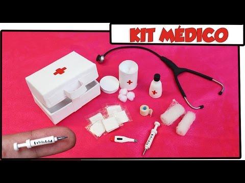 Como fazer: Kit Médico (Seringa, Maleta, Termômetro etc)  para Barbie, Monster High entre outras!