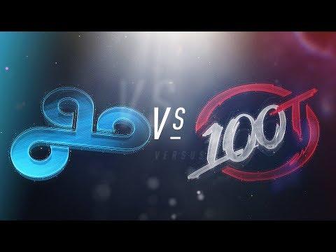 C9 vs 100 - NA LCS Week 2 Day 2 Match Highlights (Spring 2018)