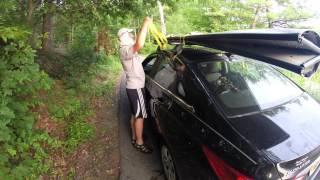 Porta-Bote auf dem Autodach