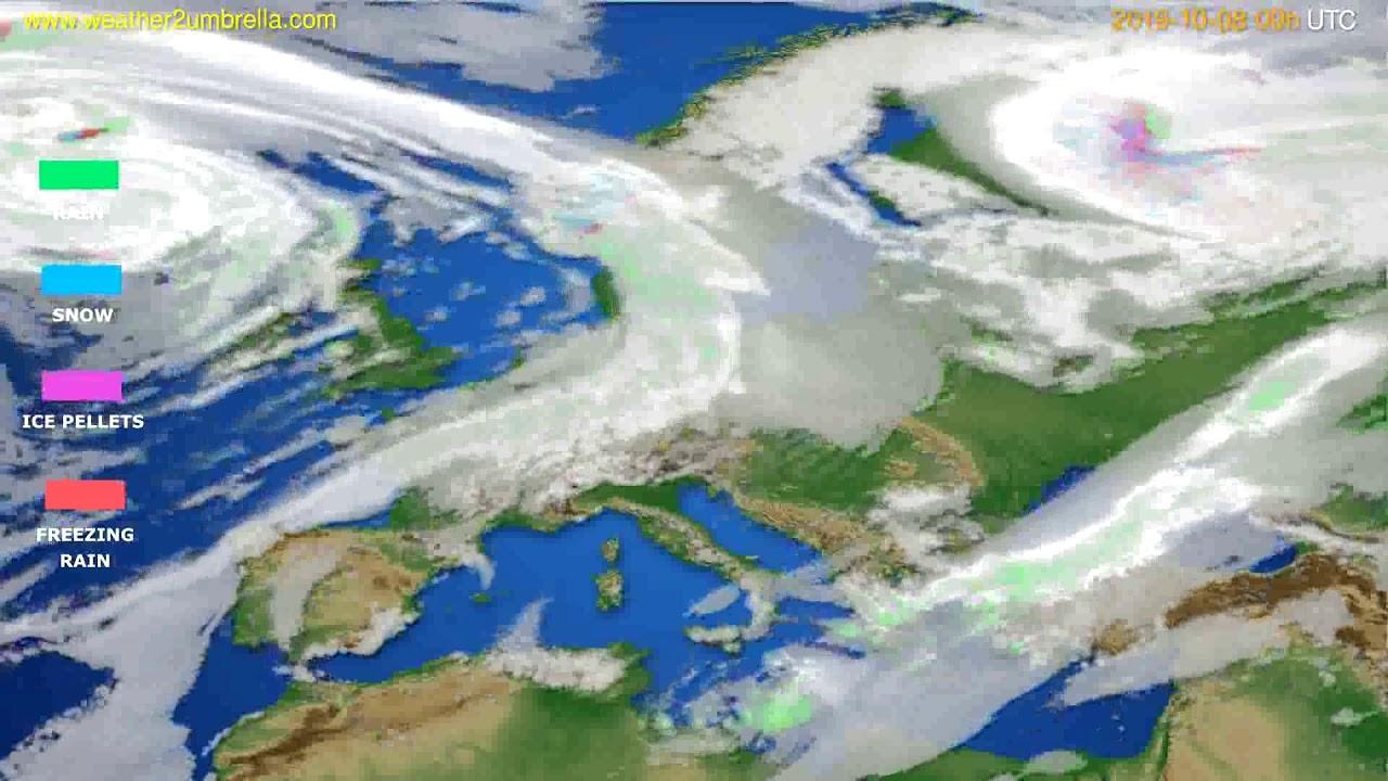 Precipitation forecast Europe // modelrun: 12h UTC 2019-10-06