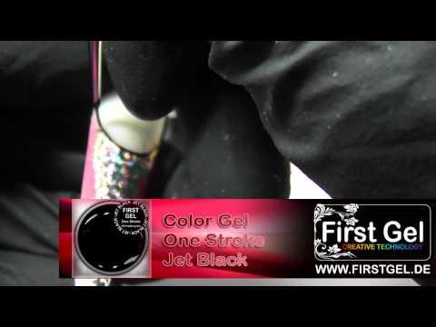 Nail Design Abstrakt mit First Gel Goldguss Technik