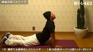 腰痛の予防と改善にオススメなストレッチ3種目【日頃のケアに!】