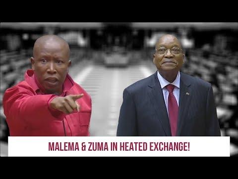 MALEMA AND BABA KADUDUZANE IN HEATED EXCHANGE