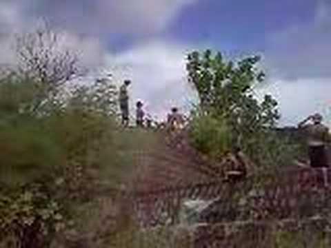 Salto mortal da barraginha em Serra Negra do Norte.