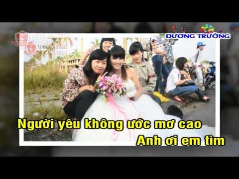 Karaoke Nhạc Sống 2015 - Tình Nghèo Có Nhau Drumba (beat Mới)