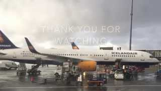 My first trans atlantic flight with Icelandair. It was operated by B757-200 aircraft.