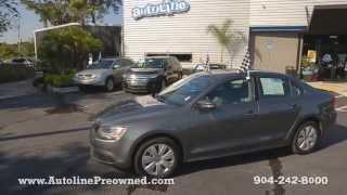 Autoline Preowned 2012 Volkswagen Jetta Sedan SE PZEV For Sale Used Walk Around Review Jacksonville