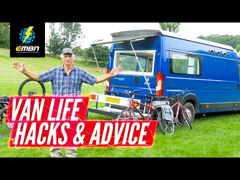 Off Grid DIY Low Budget Camper Van Conversion With E Bike Charging | Ray's Ultimate Build