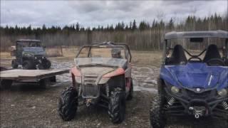 8. Polaris Ranger 900, Arctic Cat Trail and Yamaha Wolverine in snow...