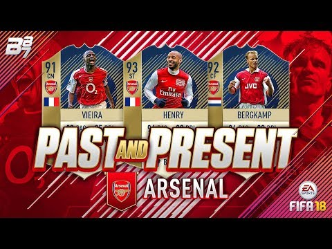 PAST AND PRESENT ARSENAL SQUAD BUILDER! | FIFA 18 ULTIMATE TEAM (видео)
