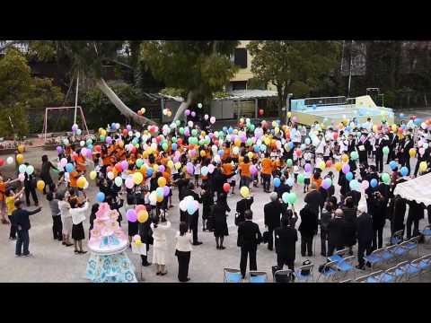 江戸川区立篠崎幼稚園40周年記念イベントでのバルーンリリース