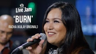"""Radha performs """"Burn,"""" a song originally written by her band Kulay. """"The song just had so much magic, because it was written so fast,"""" she shared on the show. Watch her full performance with Basti Artadi here:http://s.rplr.co/ajziFWZFollow Rappler on Social Media:Facebook - https://www.facebook.com/rapplerdotcomTwitter - https://twitter.com/rapplerdotcomInstagram - http://instagram.com/rapplerYouTube - https://www.youtube.com/rappler/?sub_confirmation=1SoundCloud - https://soundcloud.com/rapplerGoogle+ - https://plus.google.com/+Rappler/Tumblr - http://rappler.tumblr.com/http://www.rappler.com/"""