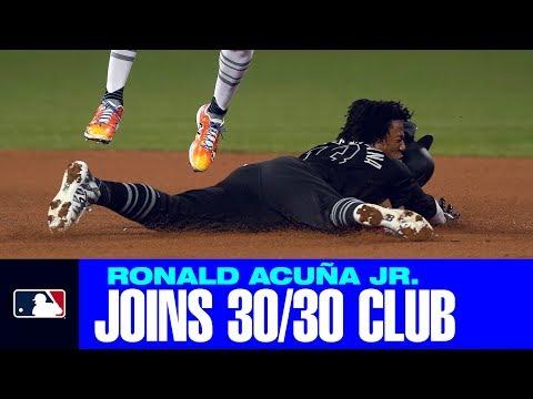 Video: Ronald Acuña Jr. joins 30-30 club!
