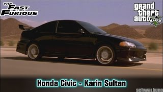 Nonton GTA 5 The Fast & the Furious - Honda Civic (Sultan) Car Build #30 Film Subtitle Indonesia Streaming Movie Download