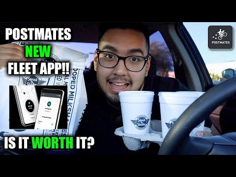 Testing Out Postmates NEW Fleet Driver's App!! How Much Did I Make, Earnings, and Thoughts!