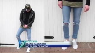 Jeans rasgados, una prenda que no pasa de moda