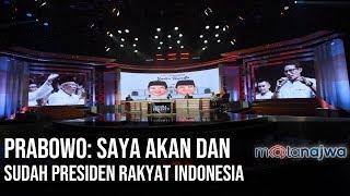 Video Suara Penentu - Prabowo: Saya Akan dan Sudah Presiden Rakyat Indonesia (Part 12) | Mata Najwa MP3, 3GP, MP4, WEBM, AVI, FLV Juli 2019