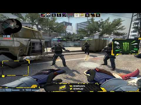 s1mple Xantares Plays FPL Faceit Overpass - CSGO Twitch Clips
