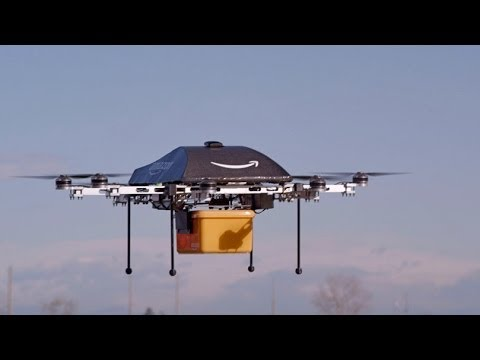 vídeo - Amazon's chief executive has revealed that the company is testing a new service involving delivery by mini-drones to get packages to customers in just 30 min...
