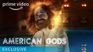 American Gods uncovers a power struggle between the traditional gods of mythological roots and an upstart pantheon of gods whose behaviour reflects modern society's love of money, technology, media, celebrity and drugs. American Gods is based on the award-winning novel by Neil Gaiman and produced by Bryan Fuller. The Season stars Ricky Whittle, Ian McShane, Emily Browning, Gillian Anderson, and Orlando Jones.» SUBSCRIBE: http://bit.ly/AmazonPrimeVideoUKSubscribe» Watch American Gods on Amazon Prime Video: http://bit.ly/AmazonPrimeVideoAmericanGodsFollow American Gods:Facebook: http://bit.ly/APVAmericanGodsFacebookTwitter: http://bit.ly/APVAmericanGodsTwitterInstagram: http://bit.ly/APVAmericanGodsInstagramAbout American Gods:American Gods uncovers a power struggle between the traditional gods of mythological roots and an upstart pantheon of gods whose behaviour reflects modern society's love of money, technology, media, celebrity and drugs. American Gods is based on the award-winning novel by Neil Gaiman and produced by Bryan Fuller. The Season stars Ricky Whittle, Ian McShane, Emily Browning, Gillian Anderson, and Orlando Jones.Get More Amazon Prime Video UK: Watch More: http://bit.ly/WatchAmazonVideoNowFacebook: http://bit.ly/AmazonPrimeVideoUKFacebookTwitter: http://bit.ly/AmazonPrimeVideoUKTwitterInstagram: http://bit.ly/AmazonPrimeVideoUKInstagramTumblr: http://bit.ly/AmazonPrimeVideoUKTumblrAbout Amazon Video:Want to watch it now? We've got it. This week's newest movies, last night's TV shows, classic favorites, and more are available to stream instantly, plus all your videos are stored in Your Video Library. Over 150,000 movies and TV episodes, including thousands for Amazon Prime Video members at no additional cost.American Gods Episode 8 - Behind the Scenes  Amazon Prime Videohttps://youtu.be/LeI49dkyA5MAmazon Prime Videohttps://www.youtube.com/c/amazonvideouk