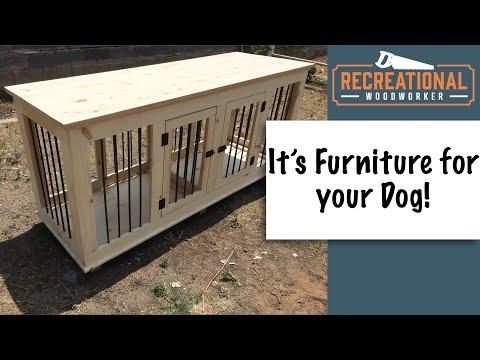 Dog Crate Furniture Plans Woodworking DIY Plan