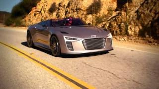 The Audi e-tron Spyder in Malibu, California