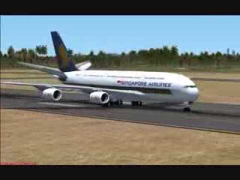 Flight Simulator X - First Commercial Flight Airbus A380