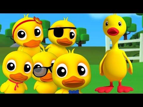 пять маленьких уток | дети рифм | рифмы сборник для детей в России (видео)