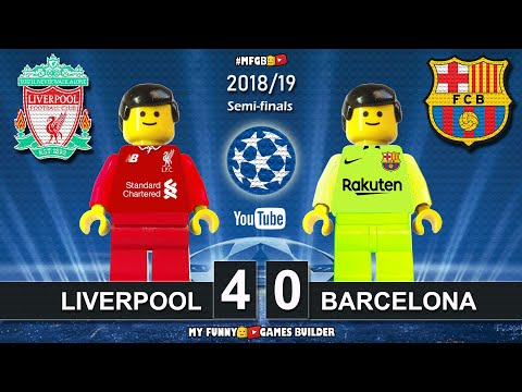 Liverpool vs Barcelona 4-0 • Champions League 2019 (07/05/2019) • All Goals Highlights LEGO Football