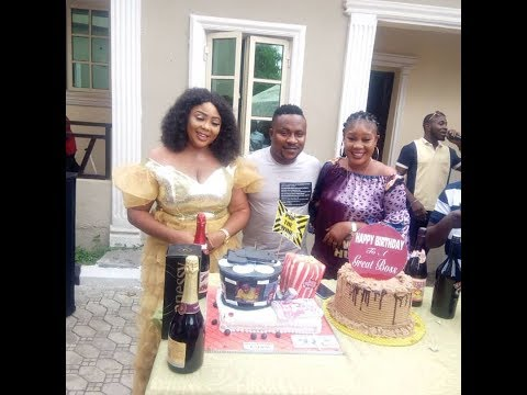 Omg! Popular Actor,segun Ogungbe Two Wives, Family & Friends Surprised Him On His Birthday
