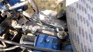 Минитрактор. Вторая опора поворотного узла переломки