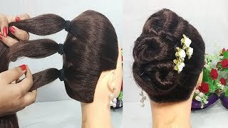 Video 5 Mins Hairstyle for wedding | Easy Hairstyles for long hair | updo hairstyle | simple hairstyle MP3, 3GP, MP4, WEBM, AVI, FLV Mei 2019