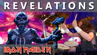 """Click Subscribe! ►http://bit.ly/MikiMaidenI made """"Revelations""""  drum cover because on Flight 666 sounds just sickooo :)MIKI MAIDEN Equipment: ►Yamaha Drums: Yamaha Beech CustomTom Tom 12""""Tom Tom 13"""" Flor Tom 16""""Snare Drum - Spirit Of Maiden ( Limited Edition ) 14""""Bass Drum pedal - DW 9000Hi- Hat Stand - DW 5000►Remo Drumheads:Bass - Evans eq4 Snare - Front - Remo Cantrolled Sound CoatedSnare - Back - Remo Ambasador Hazy Snare SideTom-Tom & Flor Tom - Front  -  Remo Ambasador X CoatedTom-Tom & Flor Tom  -  Back - Remo Ambasador Ebony►Paiste Cymbals:Hi-Hat - Paiste Signature Reflector Heavy Full Hi-Hat 14""""Ride - Paiste Signature Reflector Bell Ride 22"""" ( Powerslave )Crash - Paiste Signature Reflector Heavy Full Crash 17""""Crash - Paiste Signature Reflector Heavy Full Crash 18""""Crash - Paiste Signature Reflector Heavy Full Crash 19""""Crash - Paiste Signature Reflector Heavy Full Crash 20""""Crash - Paiste Signature Reflector Full Crash 16""""Crash - Paiste RUDE Crash/Ride 17""""China - Paiste Signature Reflector Heavy China 18""""DynaVox custom drum sticks - Blaz McSatler►Sound Recording:Roland - R 26 (6 Channel Digital Field)Microphone - 2x Rode NT 5 - Cardioid Studio CondenserIpod nano (space gray)►Video Recording:1x GoPro Hero 5 Black2x GoPro Hero 4 BlackIron Maiden Drum Cover  Real Drum  Drum Pad  Drum Set  Nicko McBrain  Best Drum CoverSpecial thanks to Wind Orchestra Zelezarjev Ravne for help and support►http://bit.ly/zelezarjiPeace out ☮"""